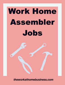 Work Home Assembler Jobs