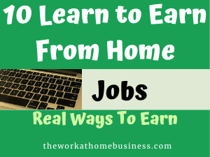 10 Learn to Earn From Home Jobs