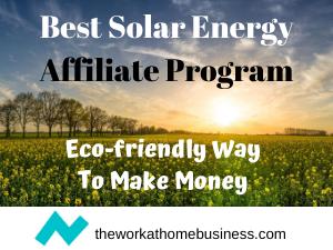 Solar Energy Affiliate Program