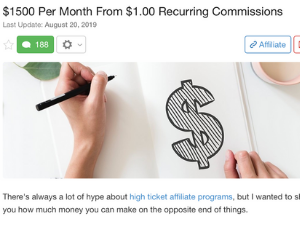 4 Figure Per Month From $1 Recurring