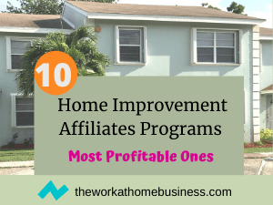 Home Improvement Affiliates Programs