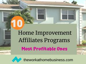 Home Improvement Affiliates Programs